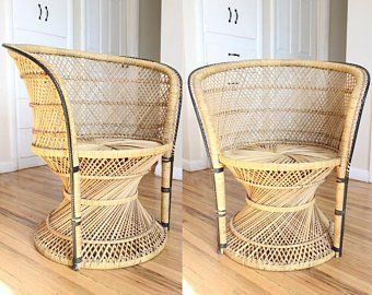 Accent Chair Etsy Chair Accent Chairs Rattan Chair