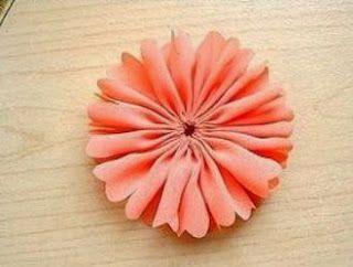 Flores De Tela Para El Pelo Paso A Paso Cositasconmesh Flores De Tela Faciles Flores De Tela Hacer Flores De Tela