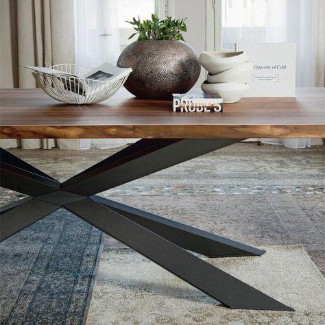 moderner esstisch cattelan spyder rechteckig stahl holz Wohnung