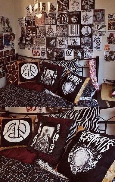 Punk Design Cues For A Teenageru0027s Bedroom | Punk Bedroom, Punk And Beatles Design Ideas