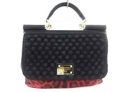 authorized site premium selection hot products Ad)eBay - Auth DOLCE&GABBANA Sicily Red Black Unborn Calf ...