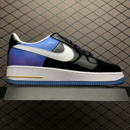 Men s PlayStation x Nike Air Force 1 Low Black White Purple Cayman Varsity  Red 306096-056-3  ad57855fe
