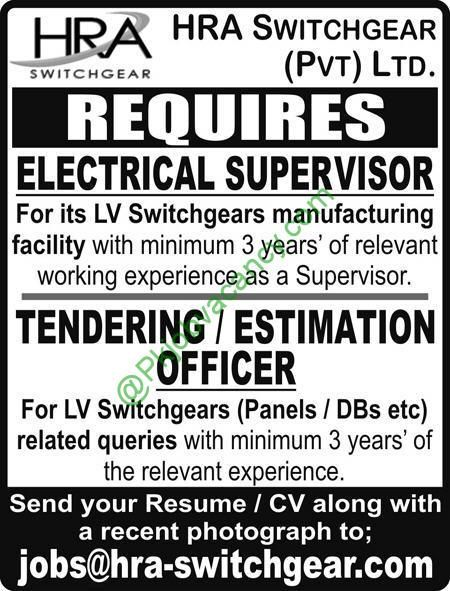 Jobs In HRA Switchgear Private Limited 2017 Jobs In Pakistan - send resume to jobs