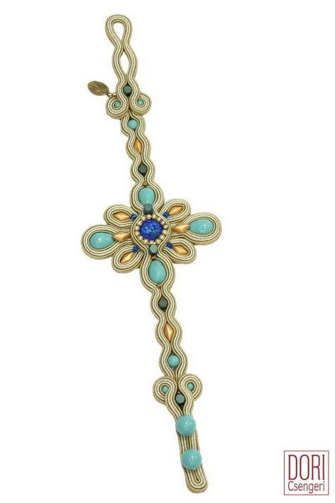 summer set soutache set jewelry set earrings Lovely soutache set bracelet
