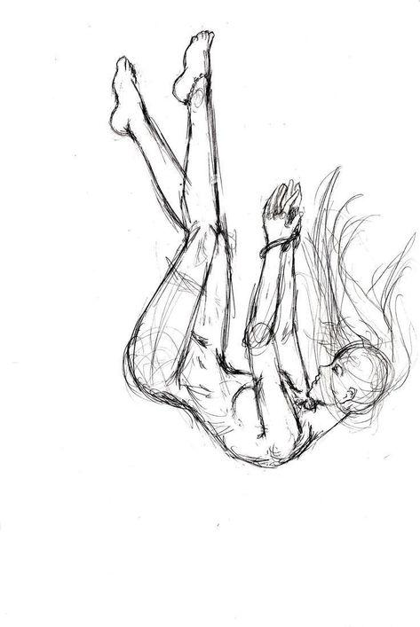Falling Sketch von ElishaAistrup auf DeviantArt #DeviantArt #ElishaAistrup #fall