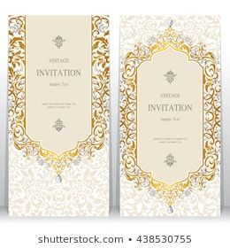 Wedding Invitation Or Card With Abstract Background Islam