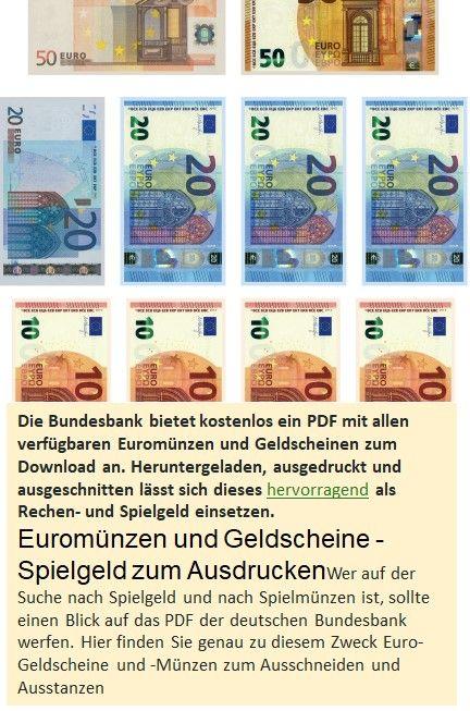 Euro ausdrucken geldscheine Banknote Euroscheine