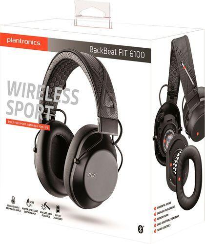 Plantronics Backbeat Fit 6100 Over The Ear Wireless Sport Headphones Black Sports Headphones Headphones Wireless Headphones