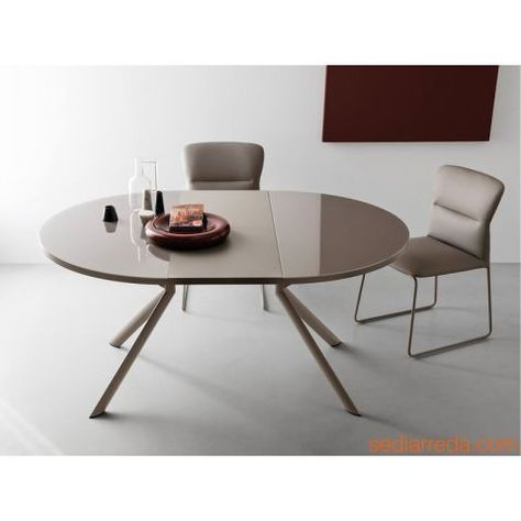 Tavoli Da Pranzo Rotondi In Vetro.Connubia Calligaris Cb4739 Giove Sale Da Pranzo Moderne