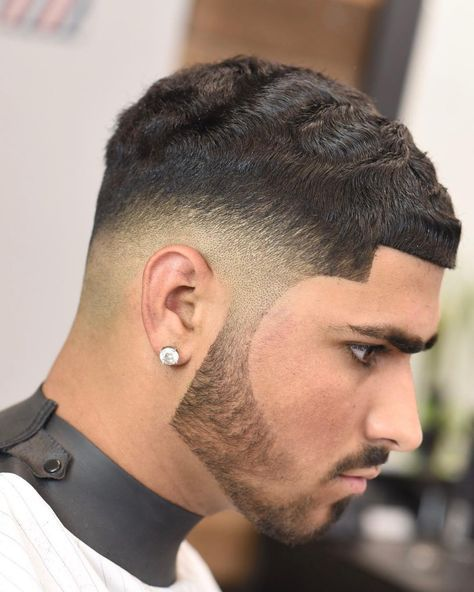 Haircuts For Men With Straight Hair High Fade With Thick Textured Spikes Mens Hairstyles Thick Hair Straight Hairstyles Haircuts Straight Hair