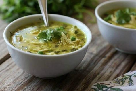Coconut Lime Chicken Curry Soup