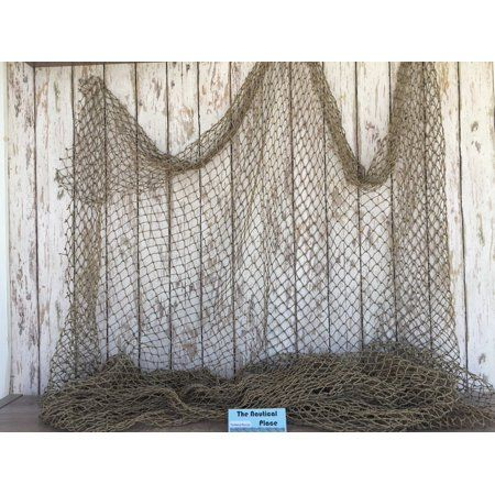 Authentic Used Fishing Net 5/'x10/' Fish Netting Nautical Decor