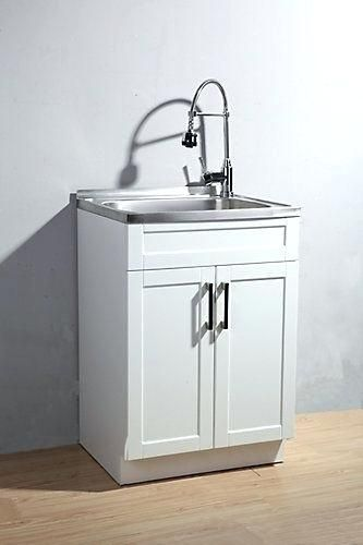 Laundry Cabinet And Sink This Utility Laundry Sink With Cabinet