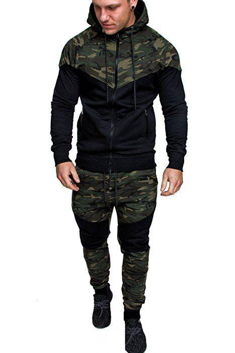 Biker Herren Sons Sportanzug Camouflage Jogginganzug Amaci rCxdeWoB