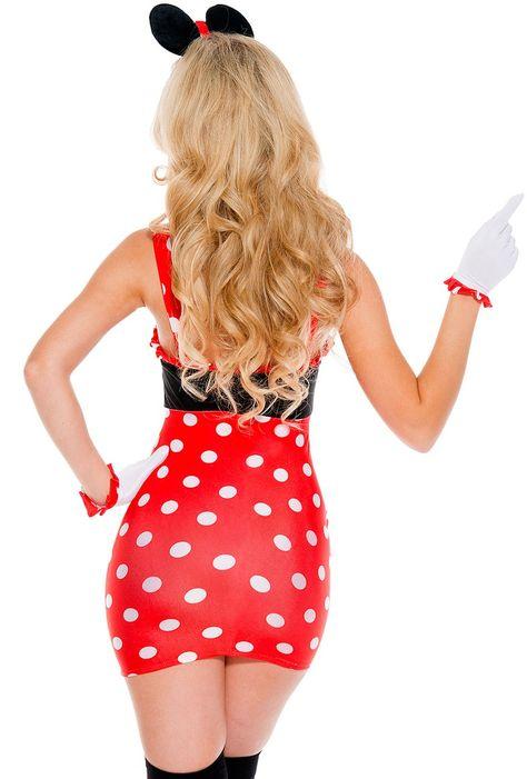 WOMEN/'S Minnie Mouse Costume Taglia 8-10