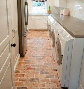 Interior Brick Paver Floor. #HHDU | Blogposts | Pinterest | Brick Pavers,  Bricks And Interiors