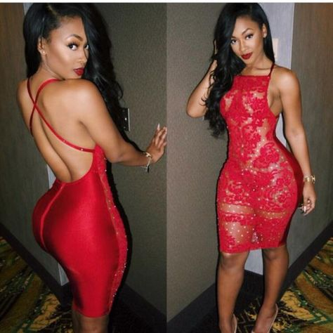 Open Back Red Lace Dresses 2018 // Red Bodycon Dress 2018 // Red party Dress 2018 / Red Sexy Dress