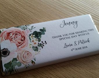 Place Card Chocolate Bar Wrapper Click To Buy Via Our Etsy Store Wedding Candy Bar Wrappers Candy Bar Wedding Wedding Chocolate Decoration