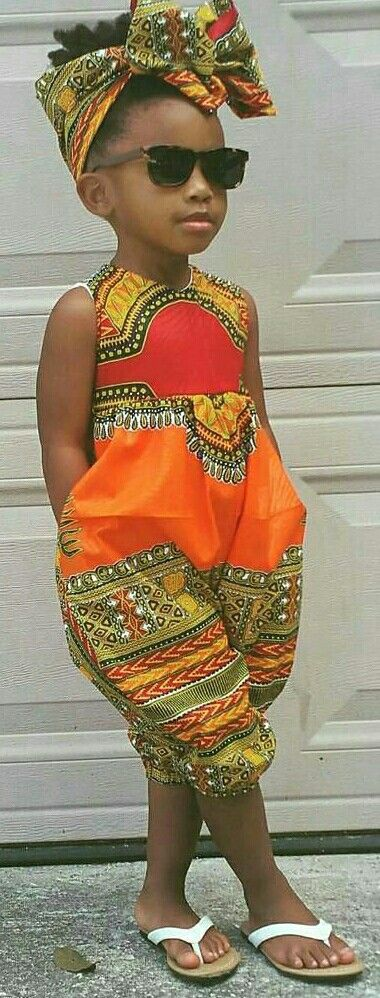 Bright and Bold Child Style ~ Love it!!! ♡AfroPolitan Dashiki Romper  @naturalhairloves ig She is so cute