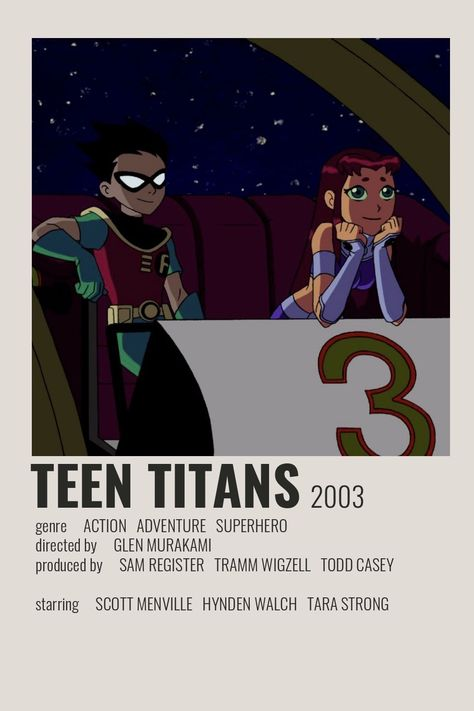 Teen Titans Poster by Cindy