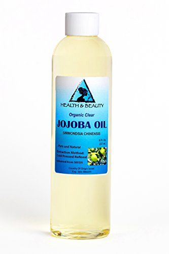 Jojoba Oil Clear Organic Carrier Cold Pressed Refined 100 Pure 8 Oz Read More Reviews Of The Product By Visiting The Link On Jojoba Oil Jojoba Pure Products