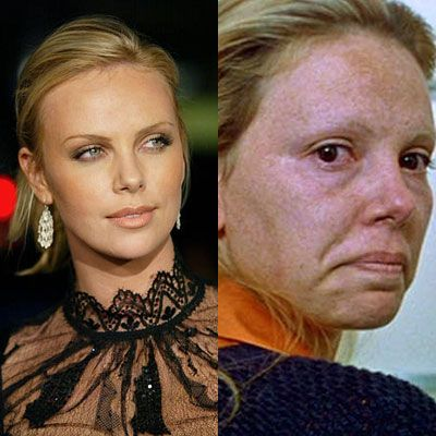 this is from the movie monster. Charlize Theron is one of the most beautiful actresses of our time, and oddly gets transformed into ugly characters a lot.
