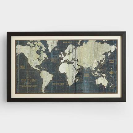 World Market Friends Family Sale World Map Wall Art Framed World Map Old World Maps