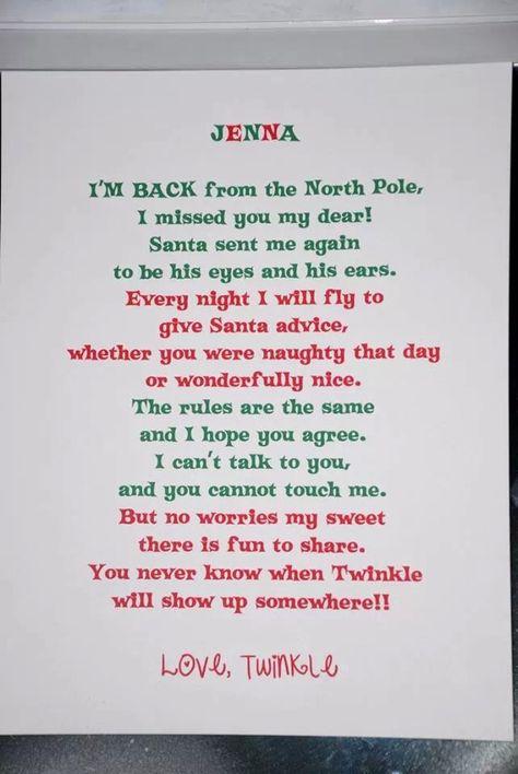 Returning elf letter