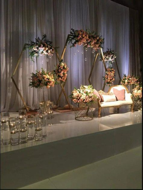 Hexagonal Arch Wood Wedding Arbour Arch Wedding Décor Wedding Backdrop Floral Arch Bohemian Backdrop #glamorouswedding