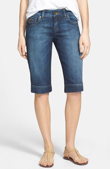 Kut From The Kloth Natalie Stretch Denim Bermuda Shorts Free
