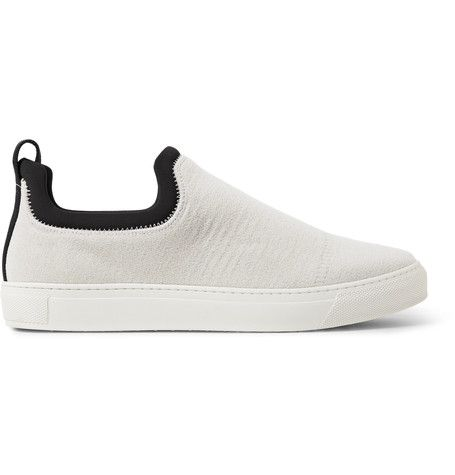 Zuma Neoprene-Trimmed Canvas Slip-On Sneakers | James perse and Shoes  sneakers