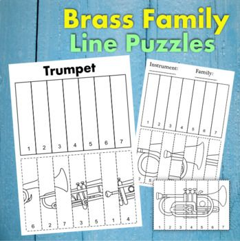 Brass Instruments Line Puzzles Music Lessons Instruments