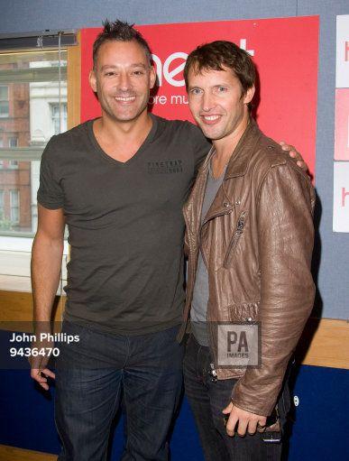 James Blunt visit Heart FM with presenter Toby Anstis at