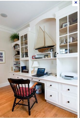 Home Office With Built In Work Stations Sawdust Girl Home Office Furniture Office Built Ins Home Office Design