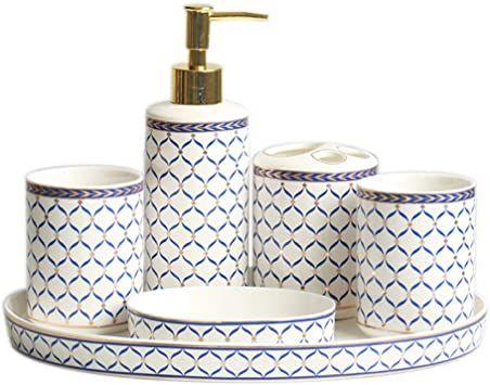 Vintage Ceramic Bathroom Accessories Sets Bathroom Vanity Decor