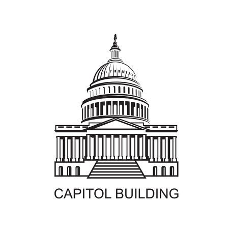 United States Capitol Building Icon In Washington Dc Building Icon Capitol Building Dc Icons