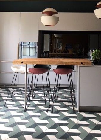 Carreaux De Ciment En 2020 Decoration Cuisine Moderne Decoration De Sol Et Cuisine Appartement