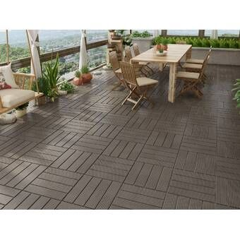Courtyard 12 X 12 Stone Interlocking Deck Tile In White Deck Tile Outdoor Flooring Outdoor Flooring Options