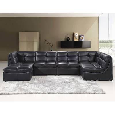 Three Posts Gowans Symmetrical Sectional Reviews Wayfair Modular Sectional Sofa Leather Corner Sofa Best Master Furniture