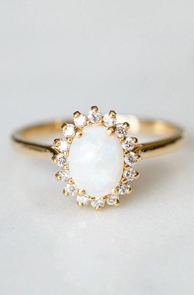 opal engagement ring - Opal Wedding Ring