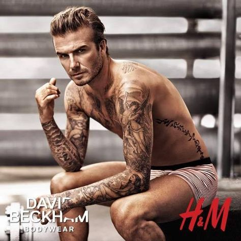 David Beckham Imagine this blown up to like 3 times your size and hanging in the window display at h&m .ya I walk past it several times just to stare at it alittle xD