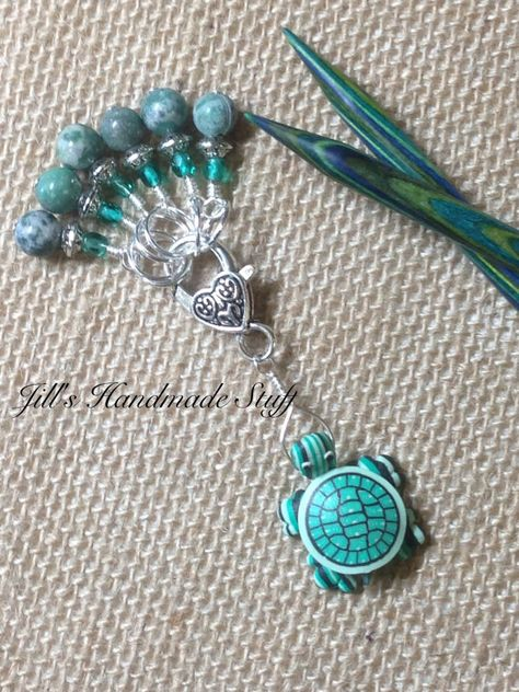 Clay Turtle Stitch Marker Holder & Snag Free by JillsHandmadeStuff
