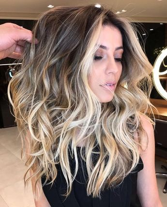 Haare Highlights 2018 Big Blonde Hair Frisuren Balayage