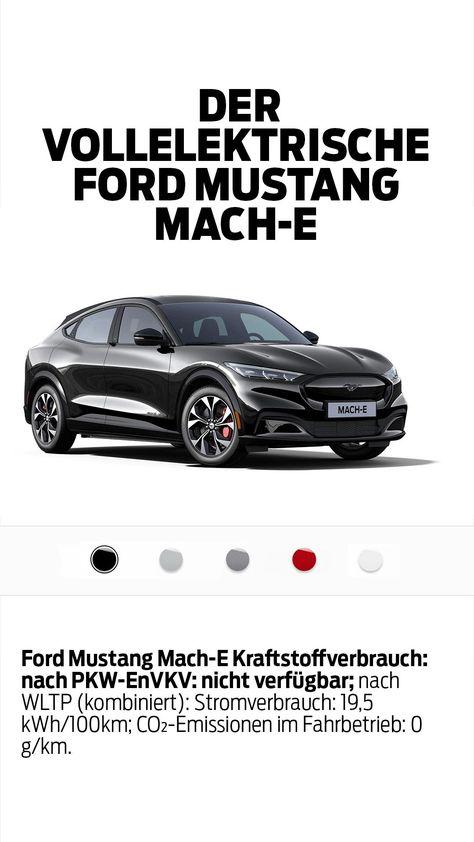 Vollelektrisch und bereit für euren Lifestyle. Der Ford Mustang Mach-E. Konfiguriert euch jetzt euer Wunschmodell.