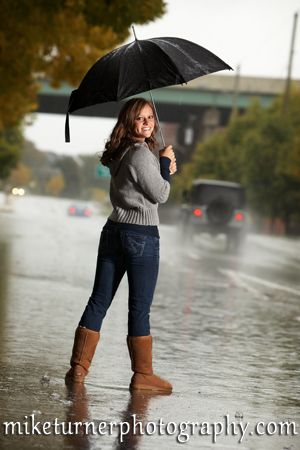 Senior photo in the rain photography pinterest senior photos if it rains the day u plan to take pictures turn it into a good thing ccuart Image collections