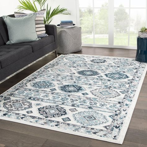 Caytes Geometric White Gray Area Rug 7 10 X 10 2 7 10 X 10 2 White Grey Juniper Home In 2020 Area Rugs Purple Area Rugs Jaipur Rugs
