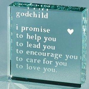 Spaceform Special Godchild Glass Token Gift Love Keepsake