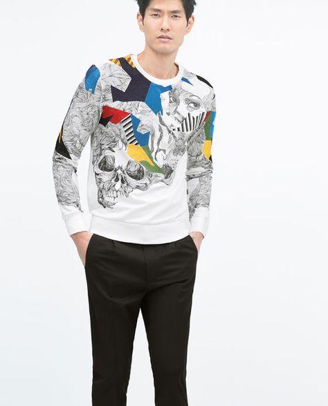jolie et colorée sortie de gros Acheter Authentic ZARA - HOMME - SWEAT IMPRIMÉ | Zara | Printed sweatshirts ...