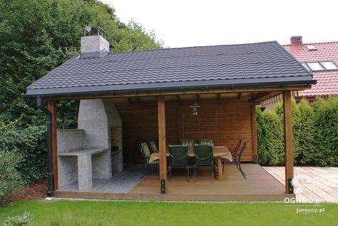 Altany Domki Oferta Ogrody Jureccy Backyard Fireplace Backyard Patio Designs Backyard Pavilion