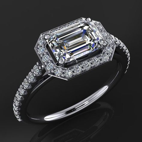 eliza ring – 1 75 carat emerald cut NEO moissanite